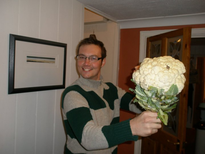 me and my first cauliflower