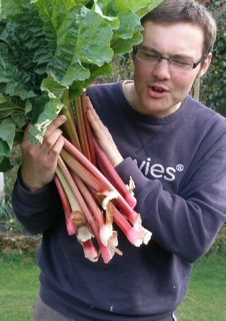 rhubarb, good for shady spots in the garden.
