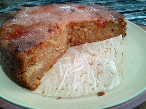 sticky quince and ginger cake