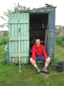 Me outside the old shed.