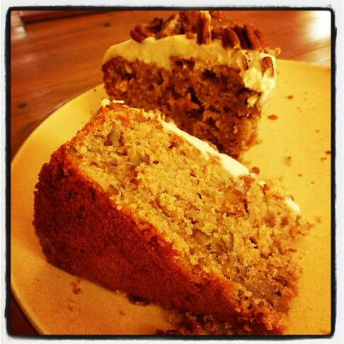 marrow and pecan cake
